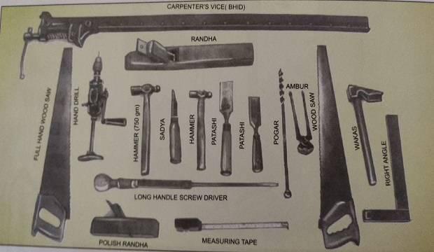 Carpentry work tools