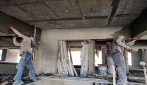 Internal and external plastering work procedure