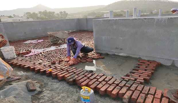 Waterproofing work procedure