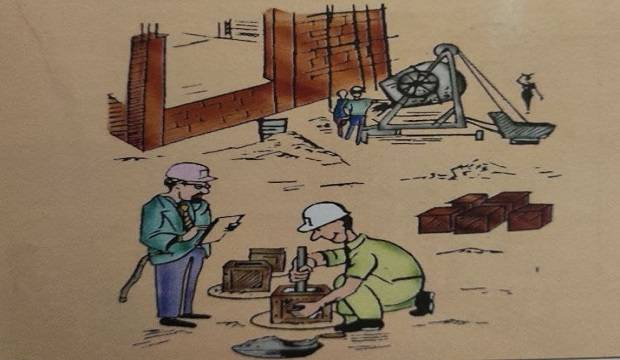 slump testing site-building