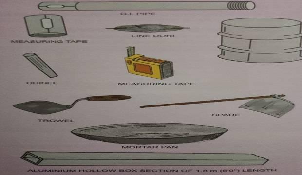 tools required waterproofing work